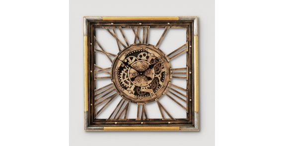 Gustav antique brass wall clock