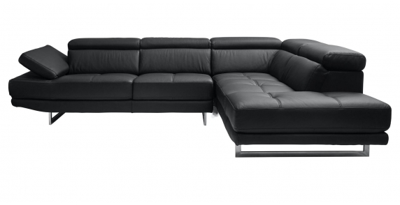 Aster Modular Chaise Lounge(Black)-Right