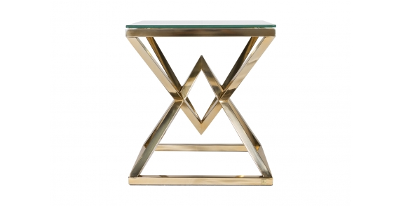 Diamond Side Table Gold