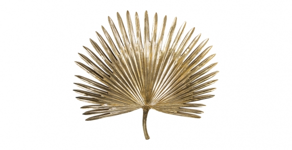 Gold palm leaf wall plaque