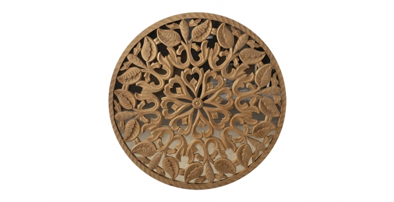 Laced Wooden Carved Mirror