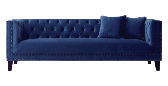 Vogue 3 Seater Sofa Navy Blue